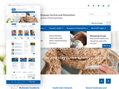 CDC Website conceptual redesign.  concept redesign health graphic design web design cdc
