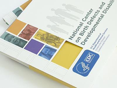 CDC & NCBDDD Pitch Packets color illustration design lettering typography cdc branding package design
