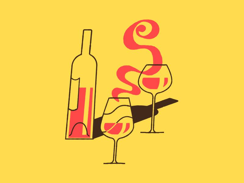 Wine Sketch motion illustration motion design wine glass wine bottle wine