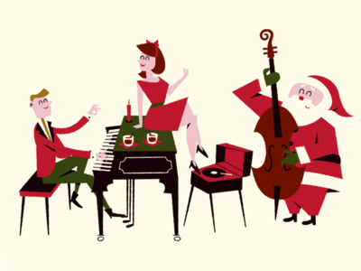 The Christmas Visitor video motiongraphics 2danimation midcenturymodern character animation