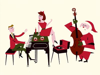 The Christmas Visitor video motiongraphics 2danimation midcenturymodern character animation