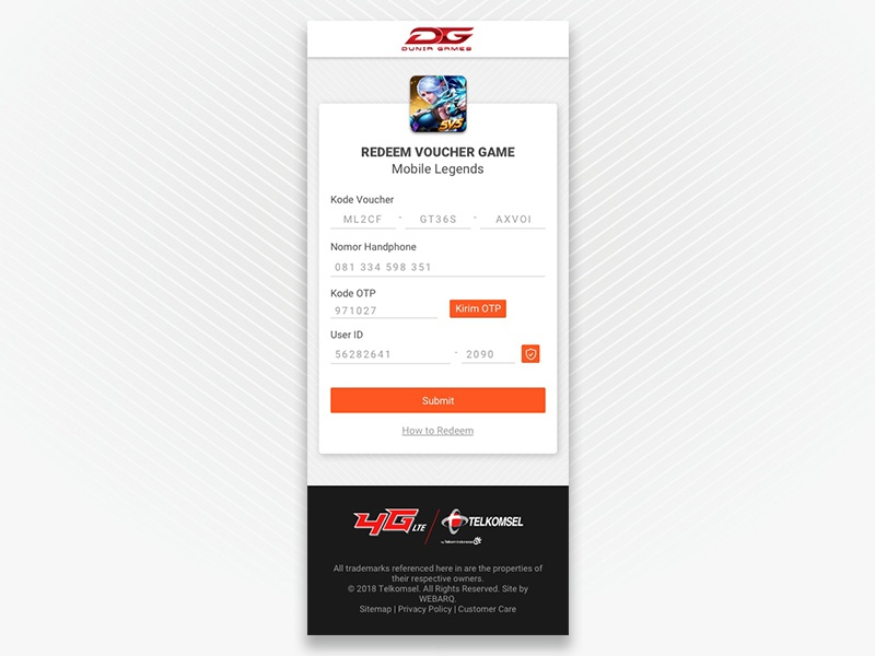 Redeem Voucher Page by Muhammad Hibatur rahman on Dribbble