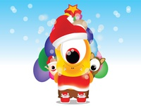 Christmas family cute moster