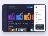 Game Streaming Platform dark platform streaming stream gaming game dashboard web website icon hero header gradient exploration design ux ui