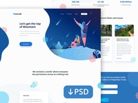 PSD Freebie : Landing Page for Hiking Site