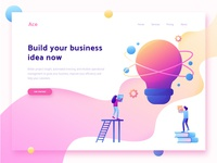 Ace - Header illustration for business website
