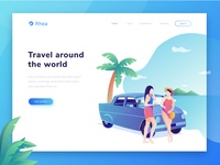 Rhea - Header illustration for travel website