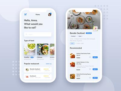 Food App Exploration exploration foodapp mobileapp illustration typography design ux ui