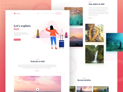 Samo - Landing page for travel website