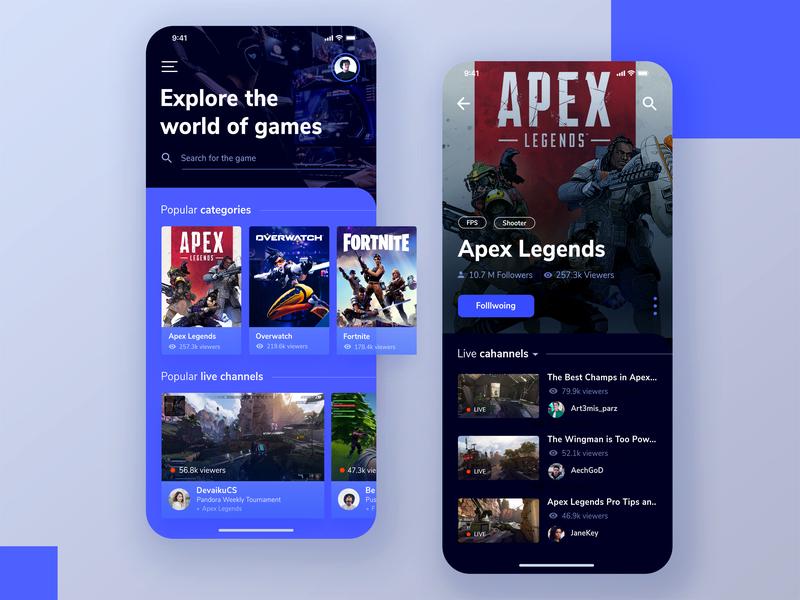 Game Streaming App by Panji Pamungkas on Dribbble