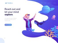 Pandora landing page - Animation