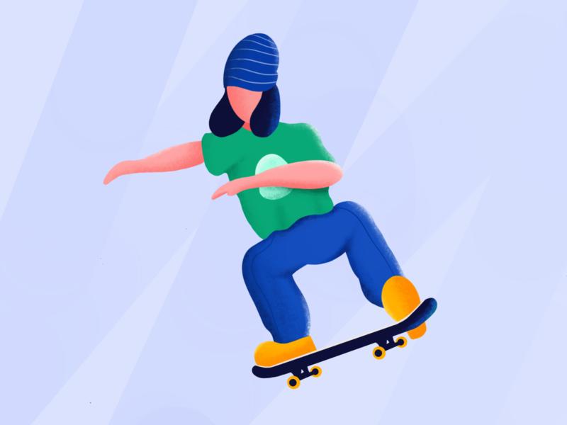 Skateboy app procreateapp procreate sports skateboarding skateboard skate exploration illustration vector