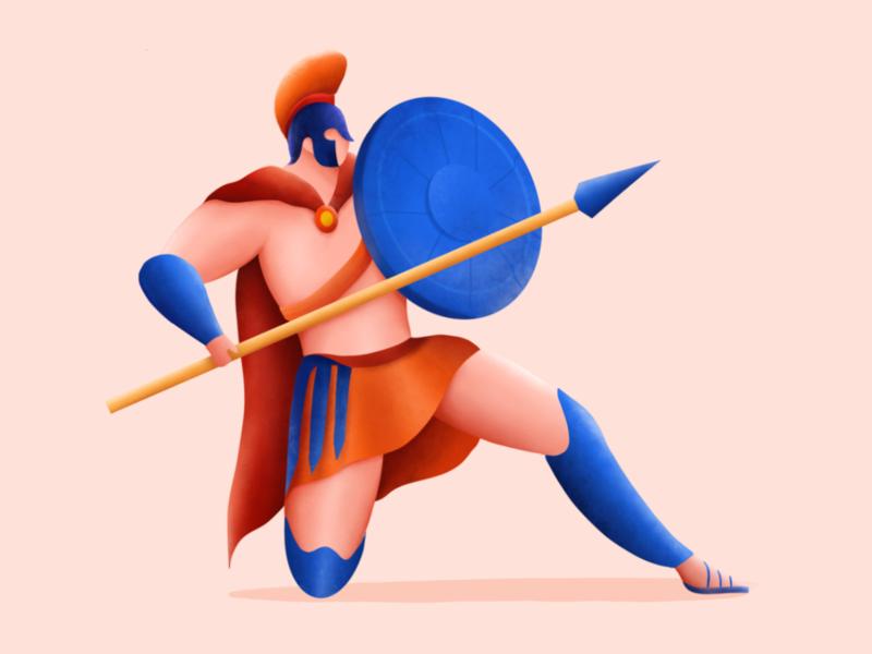 Gladiator exploration colloseum roma gladiator procreate art procreate app procreateapp procreate hero design ui ux illustration vector