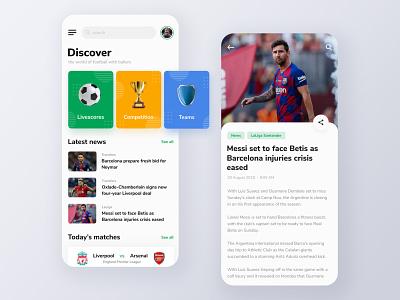 Ballers - Football App Exploration sport sports design sport app soccer livescore app design mobile app mobile football app football typography exploration design ux ui