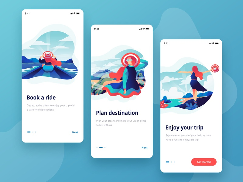 Travel App Onboarding onboarding screen onboarding mboile ui travel app travel mobile app design mobileapp app typography hero gradation gradient exploration design ux ui illustration vector
