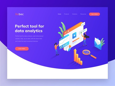 Xebec - Header illustration for data analytics website