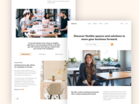 Bettrworld wework space office ui branding web typography color abstract concept ux design minimal