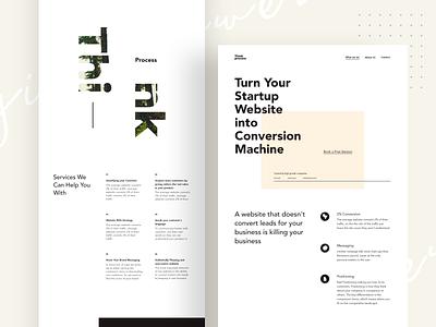 Think Version website Iteration thinkprocess landing flat abstract web minimal branding studio clean design agency agency desktop color ux ui design