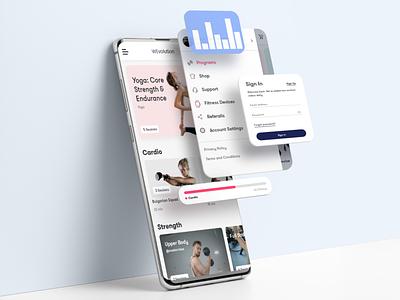 WEvolution app client clean ios app fitness health fit design branding ux ui