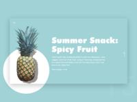 UI Challenge Day 16 - Summer snaks