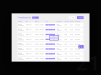 UI Challenge Day 22 - Timesheet Dashboard