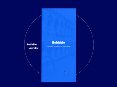 Bubbble laundry ux animation minimal clothes blue and black app  design android laundry concept interaction ux ui app