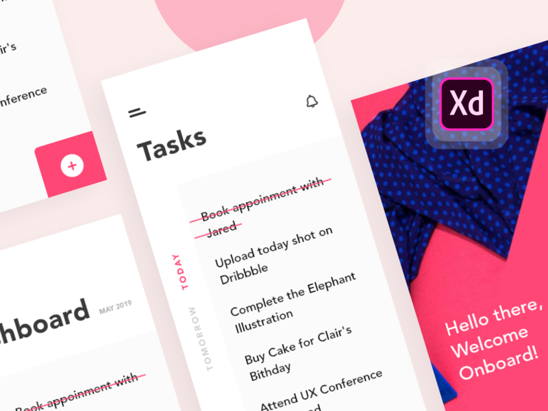 Task app | Freebie  - shot 09/50 ui pack free giveaway typogaphy task pink minimal interface flat  design flat design app design clean app design dailyui concept color clean branding art abstract