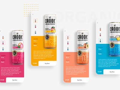 Crook & Marker | Be Unbound clean typography shopping organic ux ui design minimal flat design flat color branding beer app alcohol abstract
