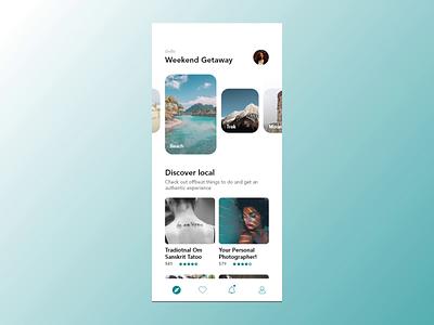 Weekend Getaway II interaction motion animation clean ui ux abstract app travel app travel flatdesign flat typography icon color minimal branding