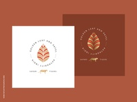 Logo Design - Golden leaf and Patel