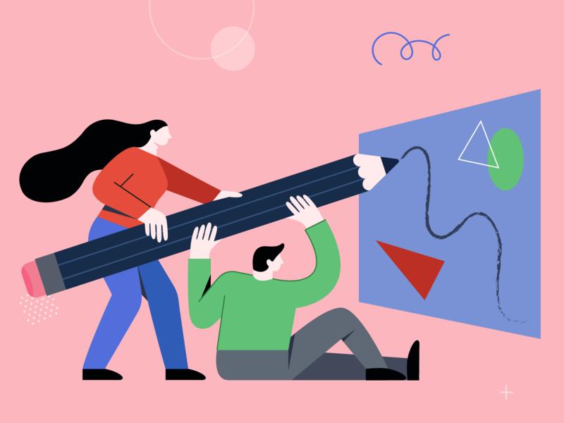 Creative Collaboration Illustration
