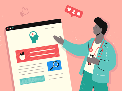 Healthcare Strategy Illustration character like success strategy marketing green pink designer graphic design illustrator business medical illustration website healthy doctor health healthcare stay safe