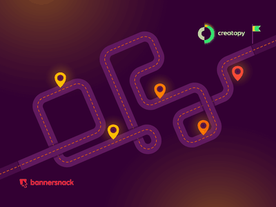 From Bannersnack to Creatopy location new brand rebrand rebranding blog creative tool platform online design graphic style colors neon illustrator illustration roadmap creatopy bannersnack
