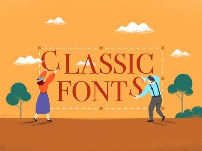 Classic Fonts Illustration