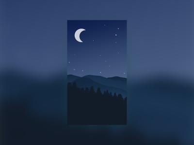 插画-夜晚