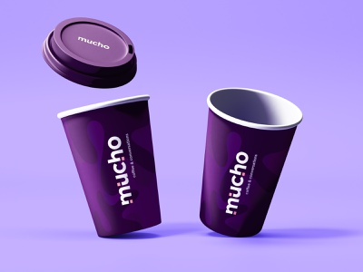 Mucho | Coffee Cups packaging design packaging logo design minimal design logo branding brand identity design