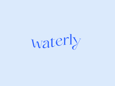 Waterly logo design typography brand identity design brand design minimal design logo branding