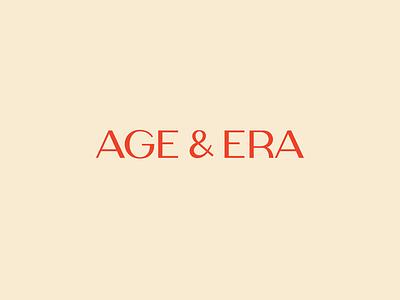 Age & Era Logotype logotype design logotype typography brand identity design brand design design branding logo
