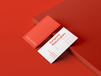 Age & Era | Business Cards visiting card business card brand design logo branding