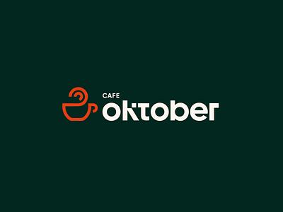 Cafe Oktober Logo Design logomark typedesign minimal typography logotype brand design branding logo design logo