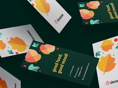 Business Cards for Cafe Oktober visiting card brand design stationery design graphic design business card stationery branding