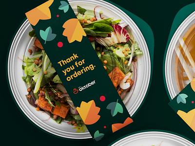 Takeaway Food Packaging for Cafe Oktober branding minimal packaging design packaging logotype graphics graphic design logo design logo