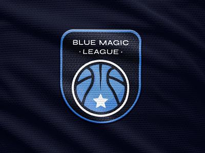 Blue Magic Basketball League Logo basketball tournament basketball logo basketball sports design sports branding sports logo emblem logo sports