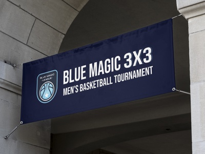 Blue Magic League basketball logo basketball sports design sports logo banner design banner sports brand identity design brand design branding logo