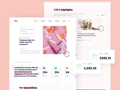 Pharmaceutical Company UI uiux webdesign website design website pharmaceutical clean design clean ux ui design design minimal ui
