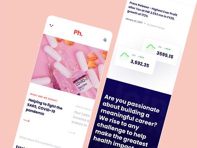 Pharmaceutical Company Website Design Responsive clean minimal responsive design responsive pharmaceutical uiux website design webdesign website ux ui