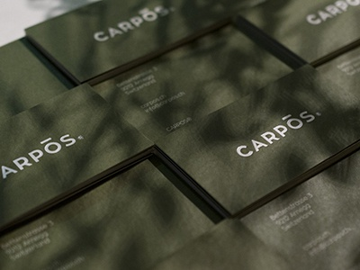 CARPOS® consumer goods graphic design art direction identity branding stationary