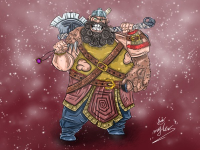 Viking drawing vector illustration design