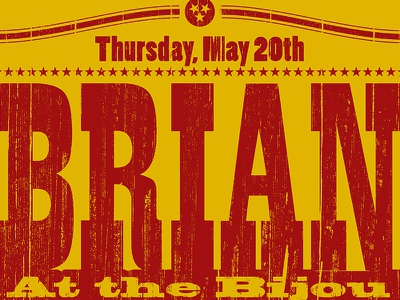 Brian Solis Promo Poster poster yellow red grunge woodtype