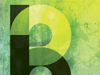 "Pyxl Business Card Cover Design - ""B"" grunge stencil dirt smear yellow black paint smudge lime green"